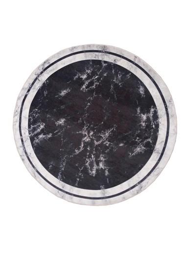 Giz Home Ella Dijital Banyo Halısı El9 Siyah 100X100 Cm Siyah
